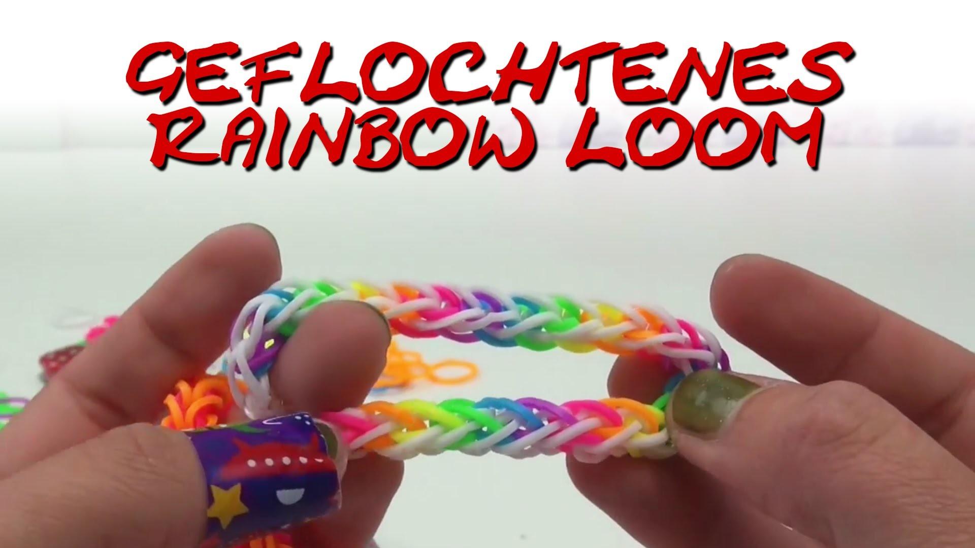 French Braid Armband Geflochtenes Loom Bands Bracelet Anleitung deutsch