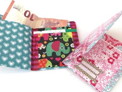 Geldbörse. Portmonee aus Papier falten. eigenes Portmonee basteln. DIY wallet