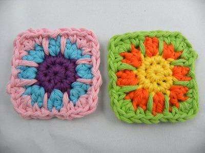 Häkeln - Granny klein in 3 Farben