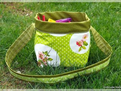 Käthes Nähstunde  Outdoor Wäscheklammerbeutelkorbtäschchen zum Wenden   Nähen für Anfänger