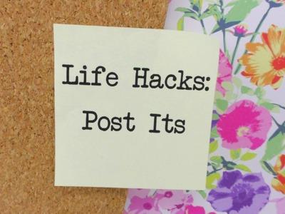 Life Hacks TOP 5: Post It's Tipps und Tricks für eure Klebezettel und Ideen | deutsch