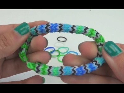 Loom Bands Hexafish deutsch Armband Anleitung How to make a rainbow loom hexafish-armband