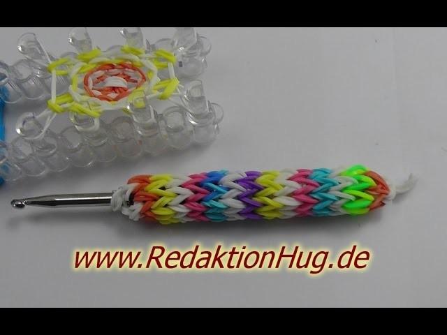 Loom Bands mit Rainbow Loom Stiftehalter Anleitung Deutsch - Veronika Hug