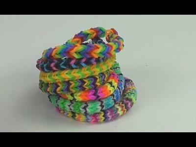 Loom Bandz Fischgräte deutsch Übersicht Fishtail Infovideo Wie macht man Gummi Fischgrät Armbänder