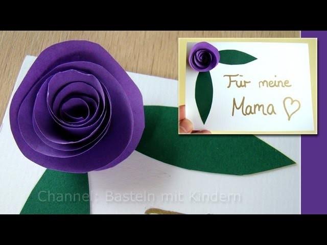 Muttertag basteln rosen aus papier als muttertagsgeschenk muttertag ideen - Fimo muttertagsgeschenk ...