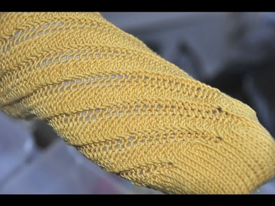"""Nadelspiel Sockenkalender Februar * Ergonomische Socken """"Spiraloho"""" * Teil 1"""