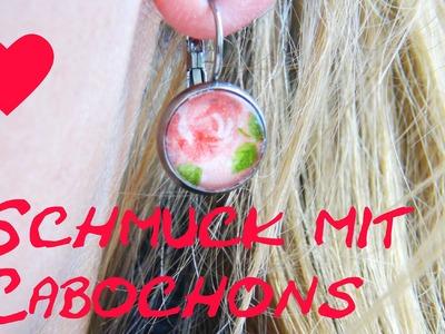 Ohrringe selber machen Anleitung Cabochon DIY Earring Schmuck Tuturoal How To make ear rings