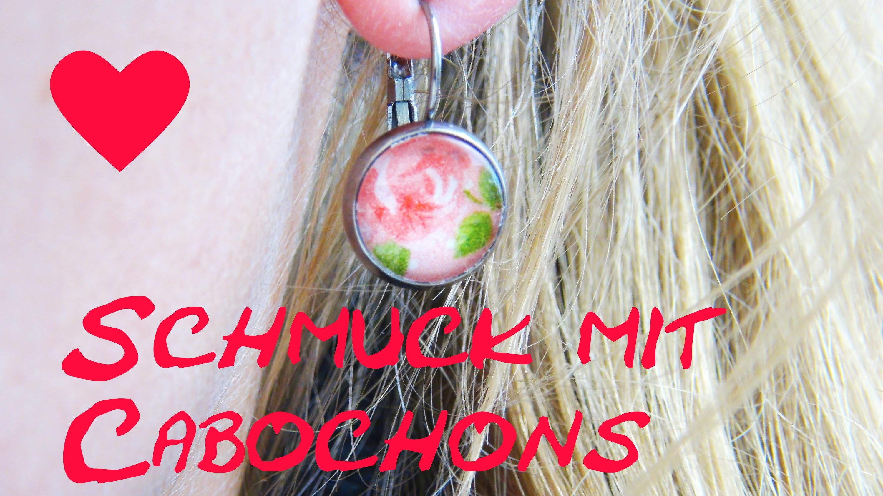 Ohrringe selber machen Anleitung Cabochon DIY Earring Schmuck Tuturoal How To make ear rings