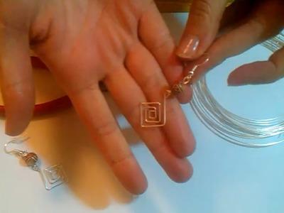 Ohrringe selber machen - Anleitung für Ohrringe aus Silberdraht