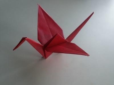 Origami-Anleitung: Kranich