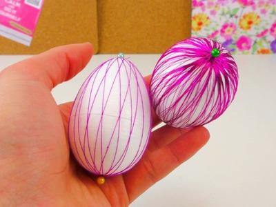Osterei DIY. Gestalten von Ostereiern.Styropor Eier gestalten. Deko Ideen für Ostern | deutsch