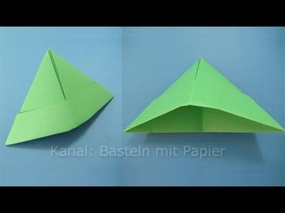 Papierhut falten - Hut basteln mit Papier