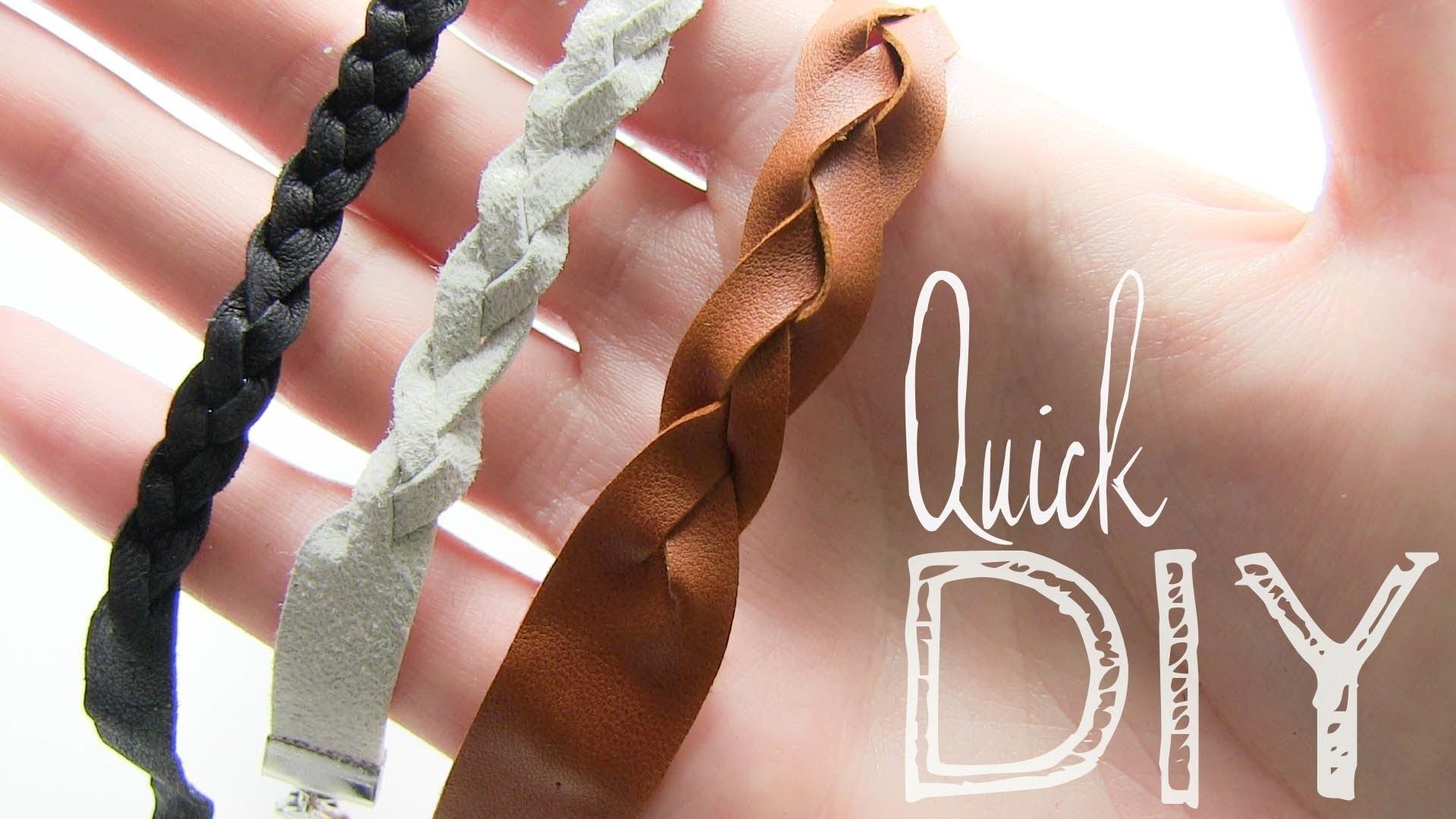 Quick DIY Flechtarmband aus Leder