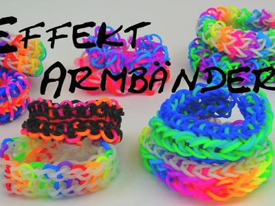 Rainbow Loom Bands Effekt Armbänder Infovideo, Alle meine Effekt Armbänder | deutsch