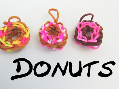 Rainbow Loom Frosted Donuts Charm Tutorial Easy. Doughnut Charms Anleitung | deutsch
