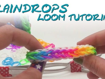 Rainbow Loom Raindrop Armband Anleitung deutsch mit Gabel How to make the raindrop bracelet