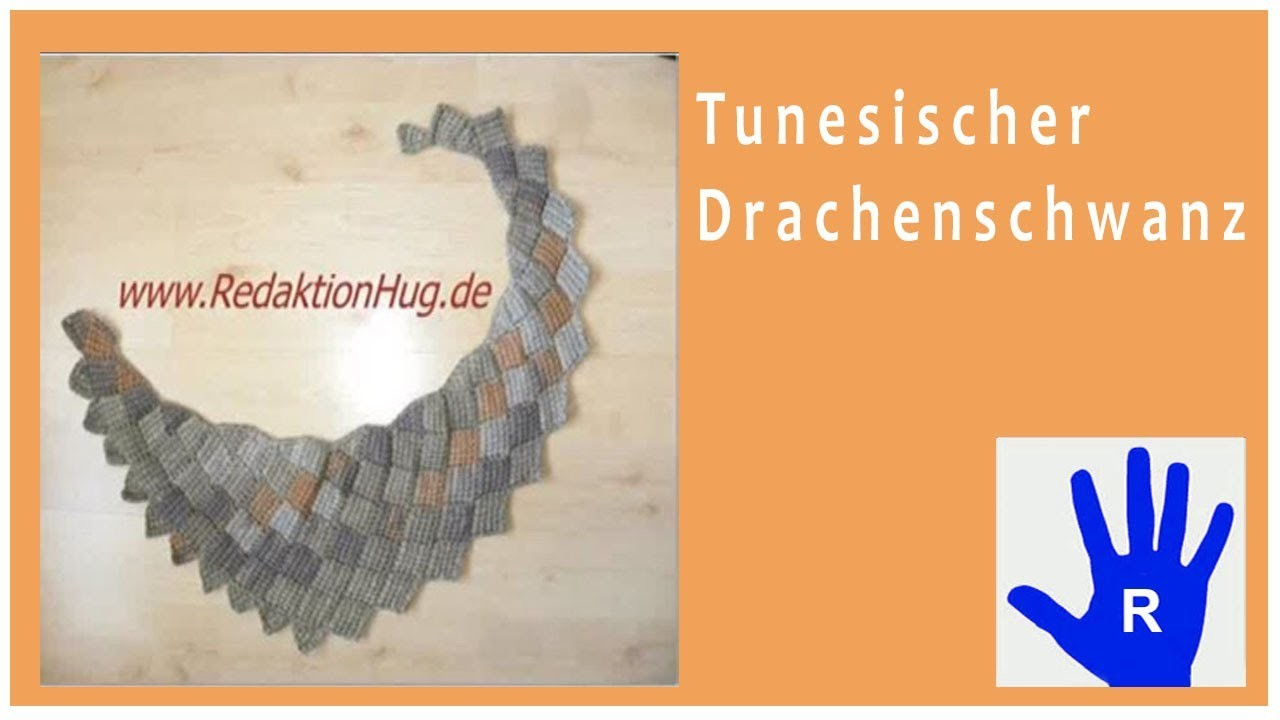 Tunesisch Häkeln - Drachenschwanz im Entrelac aus Pastello von Pro Lana - Veronika Hug