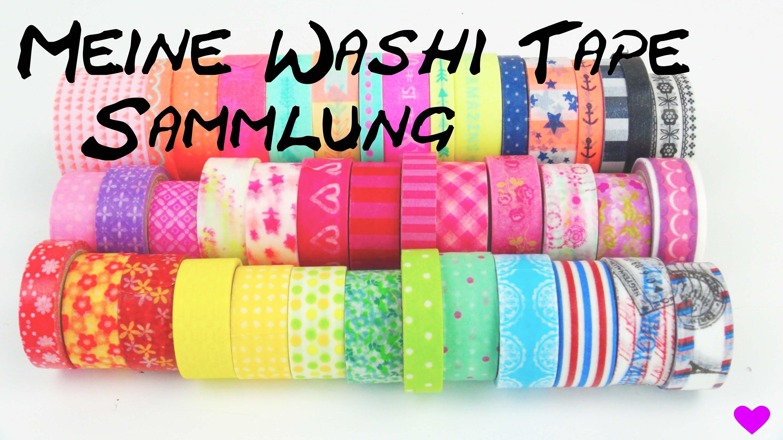 WASHI Tape Sammlung. Collection Haul. Meine Washi Tape Klebeband Ideen DIY | deutsch