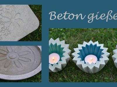 DIY - Beton gießen - Romantische Trittplatten, zauberhafte Wasserschalen und fröhliche Windlichter