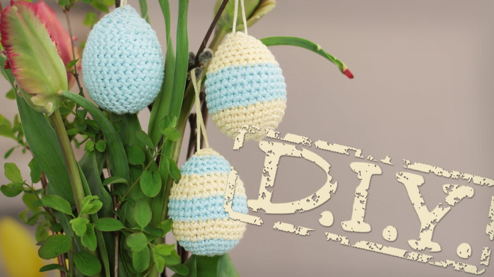 DIY Formen häkeln - 3D - umhäkeln, Streifen, Ostern, Ei