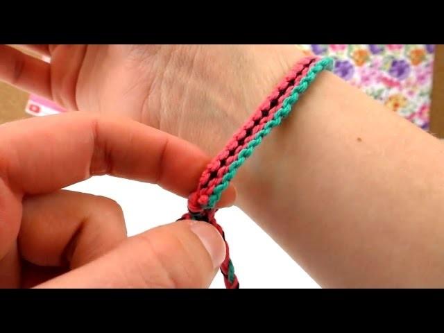 DIY Friendship Bracelet. Freundschaftsarmband Melone Muster How To Anleitung   deutsch