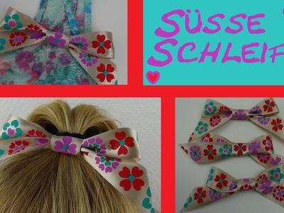 DIY Mode - Schleife für ein Geschenk, als Brosche, für die Haare
