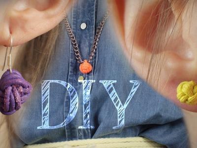 DIY Ohrringe, Schlüssel- und Kettenanhänger zum Knoten - Muttertag