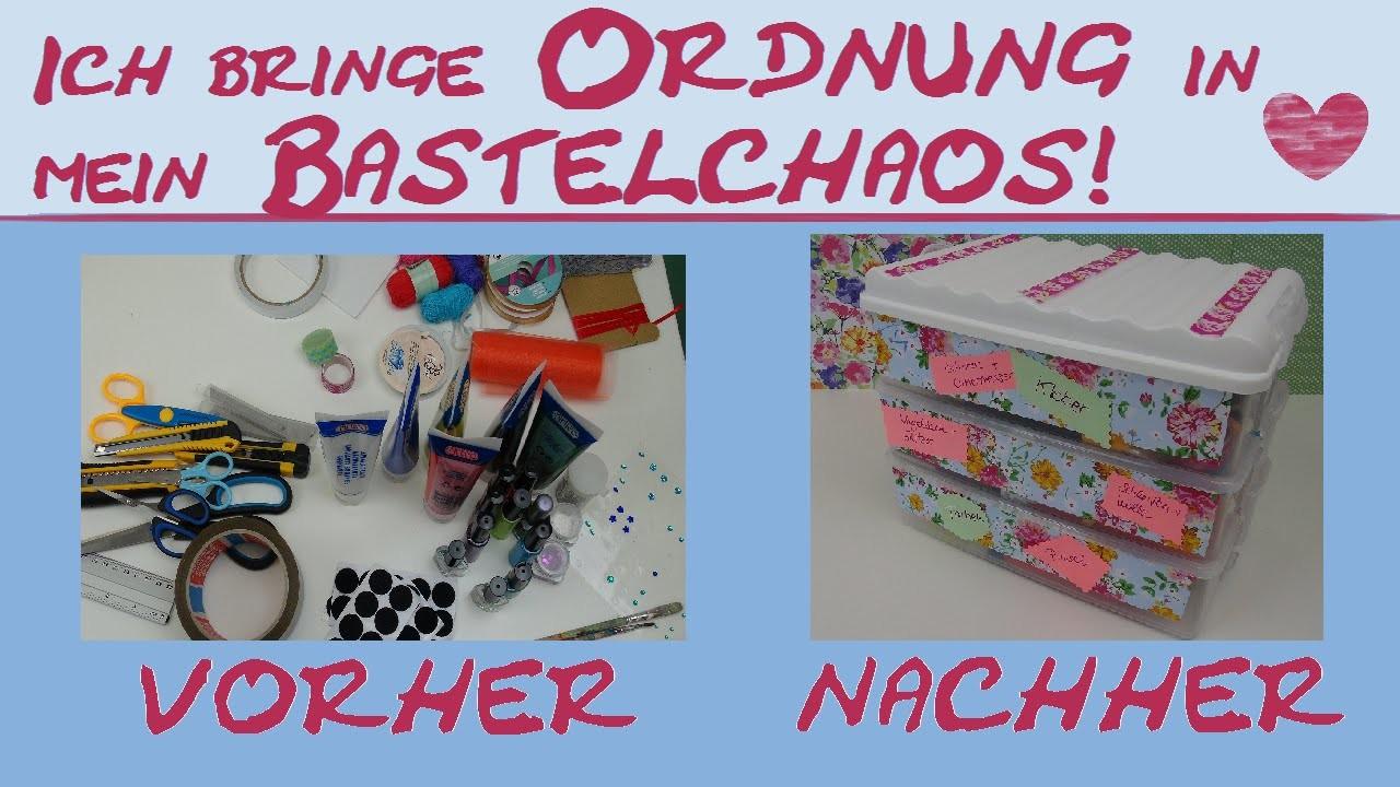 DIY Organisation. So bringe ich Ordnung in meine Bastelsachen. mit einer Aufbewahrungsbox