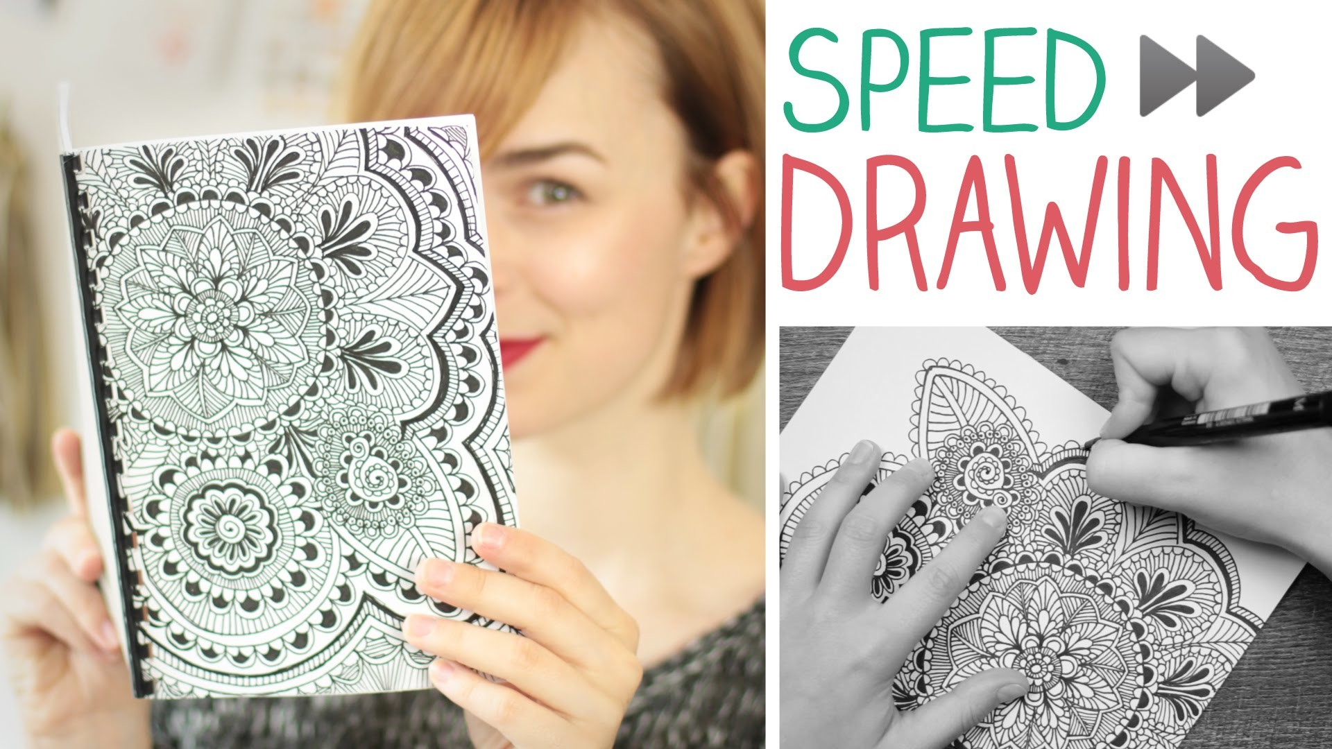 DIY Speed Drawing Mandala.Zentangle - Notizbuch selbst machen -  alive4fashion