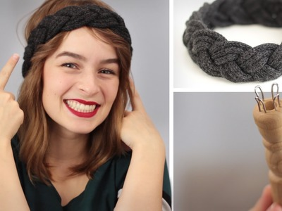 DIY Stirnband flechten aus Strickliesel-Schnüre - Stricken für Anfänger