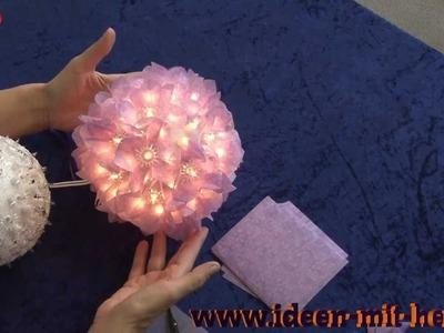 Ideen mit Herz - Fleurogami - Leucht-Blütenkugel