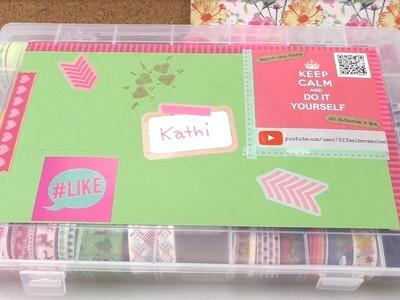 Kathis Washi Tape Box. Kathi präsentiert ihre neue Box. selbst gestaltet, zur Aufbewahrung