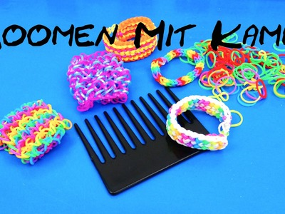 Loom Bands Loomen mit Kamm. How to loom with a comb Dragon Scale Wie loome ich mit einem Kamm?