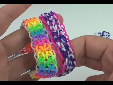 Loom Bandz double single bracelet Doppel Single Armband Anleitung deutsch auf Gabel