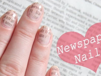 Newspapernails by CiraLaMare