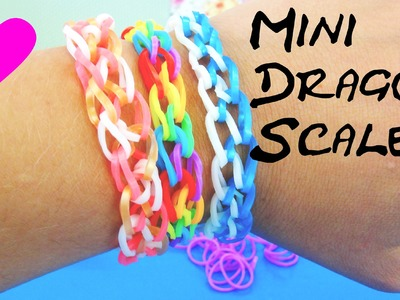 Rainbow Loom Dragonscale deutsche Anleitung MINI Armband. loom bandz dragon scale Bracelet Tutorial