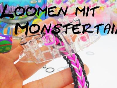 Rainbow Loom Monster Tail Fishtail Bracelet. Armband Loom Bands mit Monster Tail Tutorial | deutsch