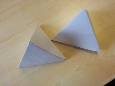 Schnell und ganz einfach -  eine Pyramide aus Papier