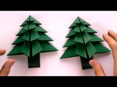 Weihnachtsbasteln: Tanne basteln als Weihnachtsdeko