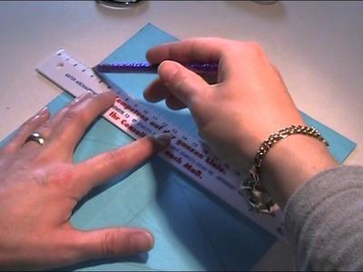 Anleitung - Nähkästchen aus Papier basteln