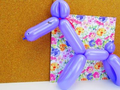 Ballontiere Pferd formen. Tiere aus Ballons für Kindergeburtstage lernen. Balloon Animals