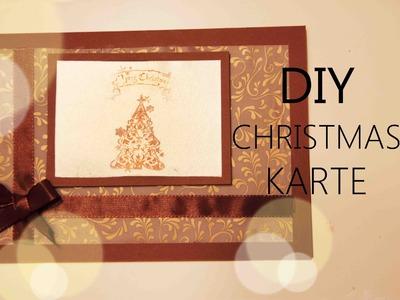 DIY | CHRISTMAS KARTE