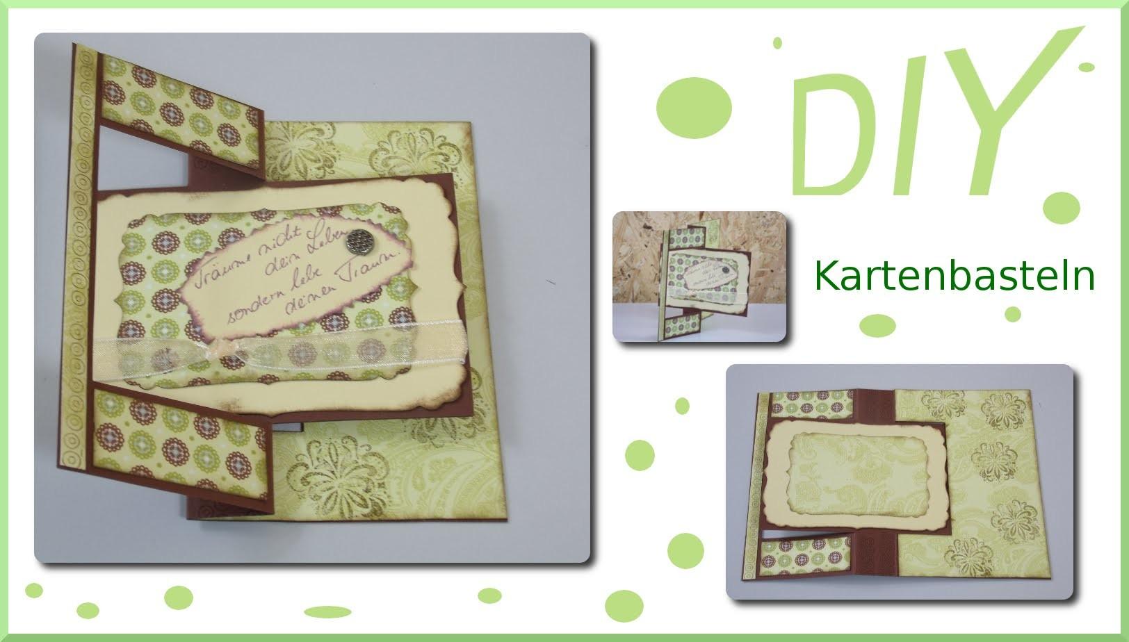 DIY Flipkarte basteln SIZZIX 658704 + docrafts XCU503044 - cardmaking