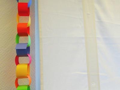 DIY Girlande | Karnevals Deko | Karneval 2015 Kette für Partys. Geburtstagsdeko Anleitung | deutsch