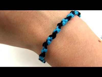 Freundschaftsarmband DIY. Friendship Bracelet mit tollem Muster selber machen | deutsch