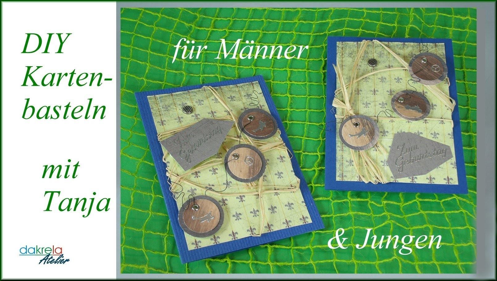 Geburtstagskarte für Männer & Jungen basteln cardmaking