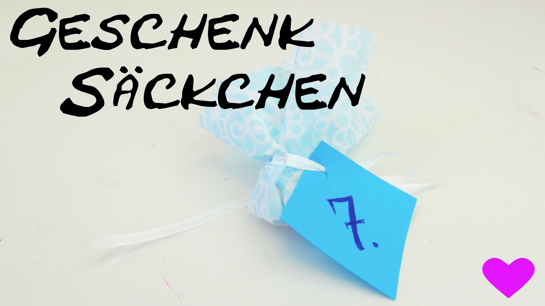 Geschenksäckchen Adventskalender Stoffbeutel Anleitung für Weihnachten. Christmas Tutorial| deutsch