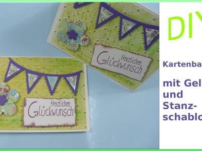 Karte zum Geburtstag selber basteln - GELATOS DIY - cardmaking