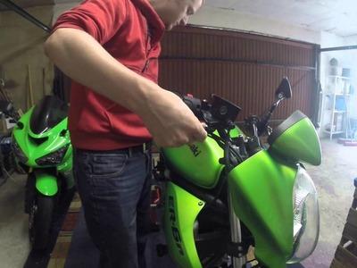 Motorrad Kawasaki ER6N Wechsel Bremshebel Armatur DIY HowTo Tutorial