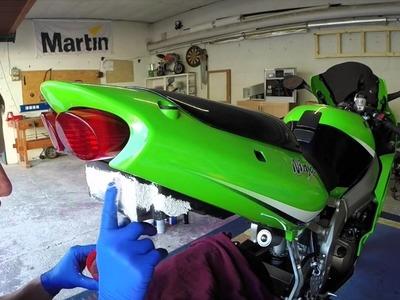 Motorrad Kawasaki ZX636A Umbau Kennzeichenhalter DIY HowTo Tutorial